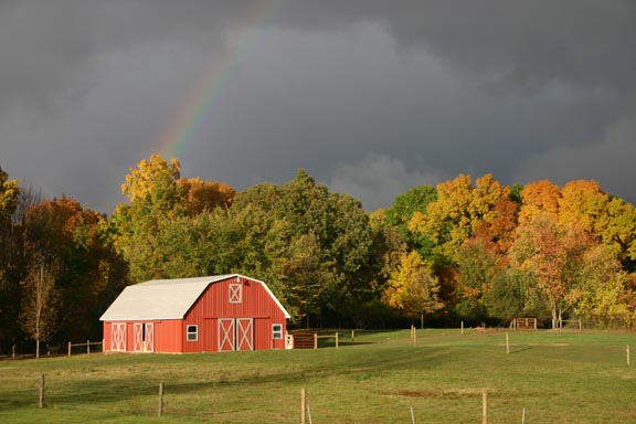 The barn in fall