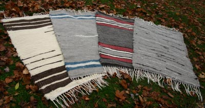 Handwoven rugs made from roving