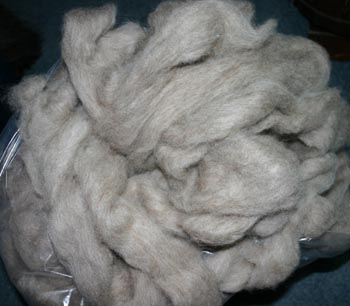 Medium gray Llama / Bluefaced Leicester (40/60) Roving