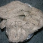 Light gray 100% Romney Roving