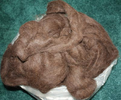 Chocolate Brown 100% Llama Roving