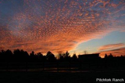 A cold but pretty sunrise